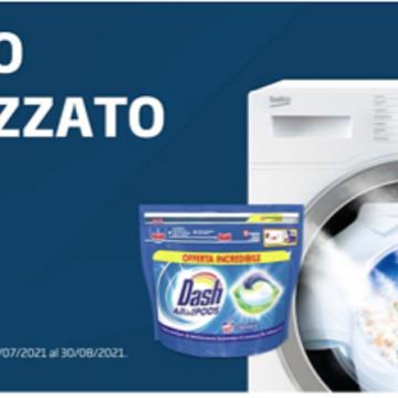 In regalo Dash con la lavatrice Beko SteamCure