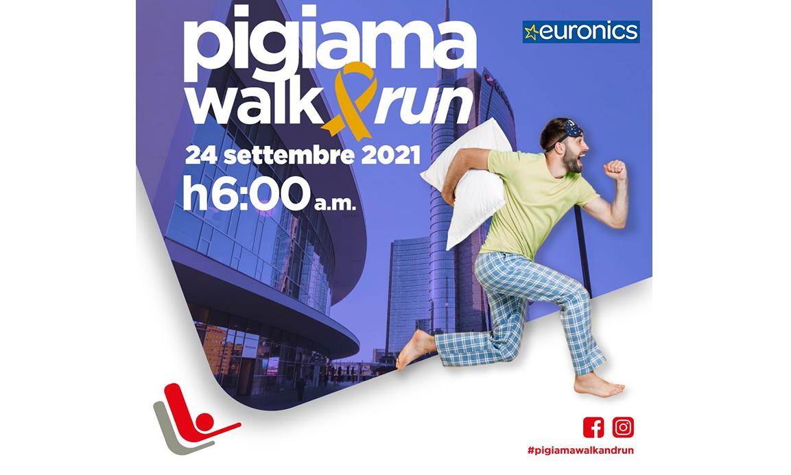 Euronics sostiene per il 6° anno la LILT alla Pigiama Walk&Run
